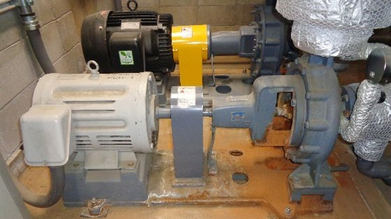 空調用ポンプ点検・交換整備作業